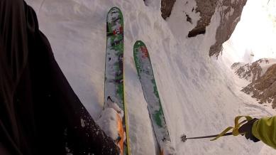 the crux - a steep and hard step