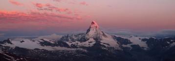 Matterhorn in red sky