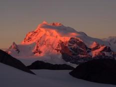 Monte Rosa at dawn