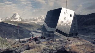 The mothership (new Monte Rosa Hut)