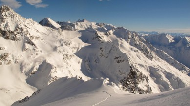 """Amazing view, the """"Zuckerhütl"""" at the farthest end."""
