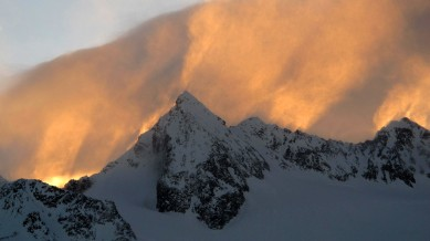 Foehn winds in the late afternoon