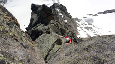 compact rock where climbing is a bit more serious