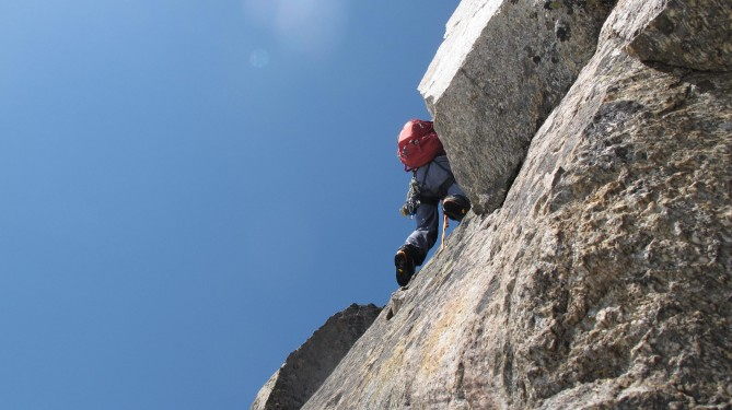 Last difficulties close to the summit