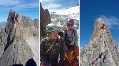 Les Ecandies traverse, Vallais/Mt Blanc: D-, 5c