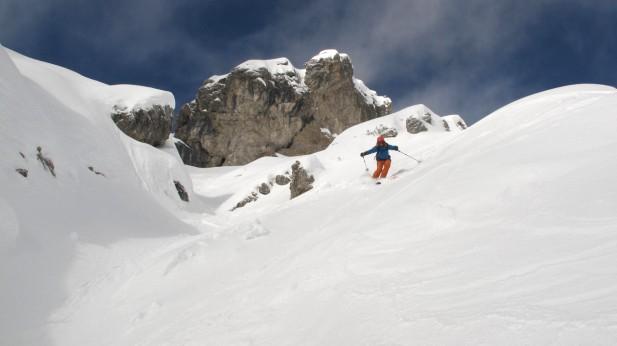 Nice skiing further down