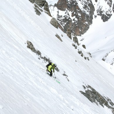 Last meters of a great ski descent, © Colin Campbell